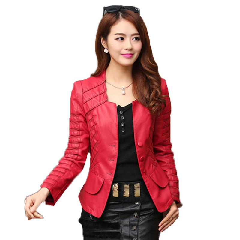 d24f20c459fbc0 Sale! Home   Winter   Jackets   2017 Autumn leather jacket women casual  long sleeve faux short coat fashion mosaic plus size ...