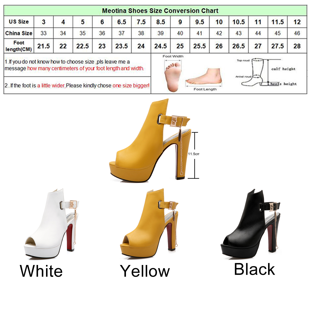 060cf3f1d23 Sale! Home / SHOES / Heels / Meotina Shoes Women High Heels Pumps Spring  Peep Toe Gladiator Shoes Female Chains Sequined ...