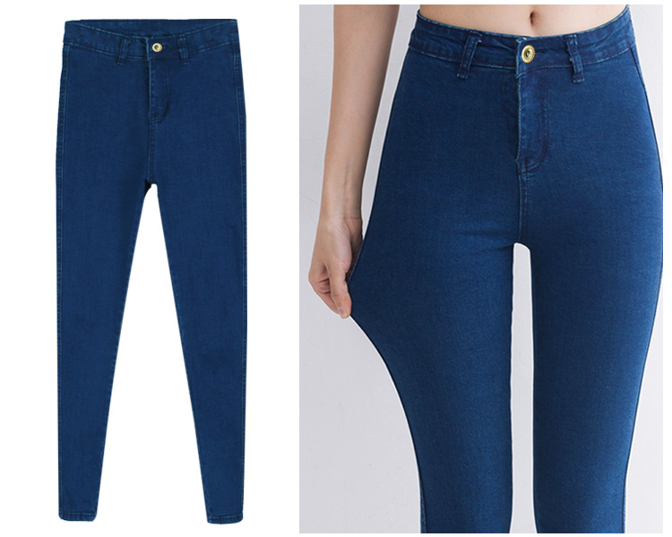 Woman Skinny Pants High Elastic Slim Fit Denim Pencil Jeans Pencil Long Trouser