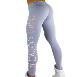 6549eb6769647 Printed BOSS GIRL Workout Push Up Leggings Women Pants Slim Cotton Fitness  Legging Plus Size Legins Jeggings Black Gray