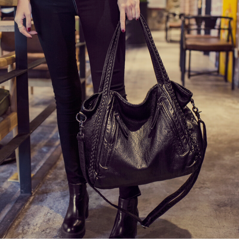2017 Large Soft Leather Bag Women Handbags Las Crossbody Bags For Shoulder Female Tote Sac A Main Famous Brand My Off