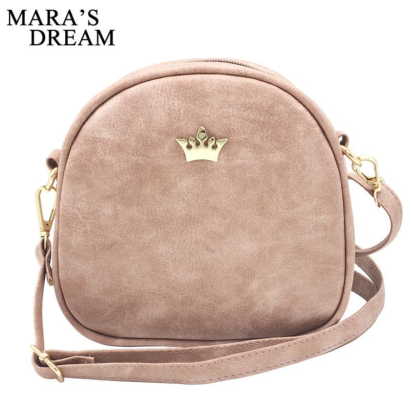 0ee93f8e58b3 Mara's Dream 2017 Fashion Women Handbag Messenger Bags PU Leather Shoulder  Bag Lady Crossbody Mini Bag Female Crown Evening Bags