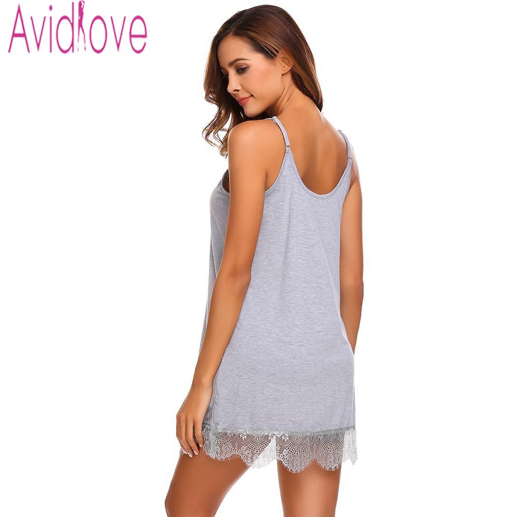 6da749c7f1 Sale! Home   Intimates   Nightwear   Avidlove Lady Cotton Nightgown Women  Nightwear Nightdress Female Sleeveless ...
