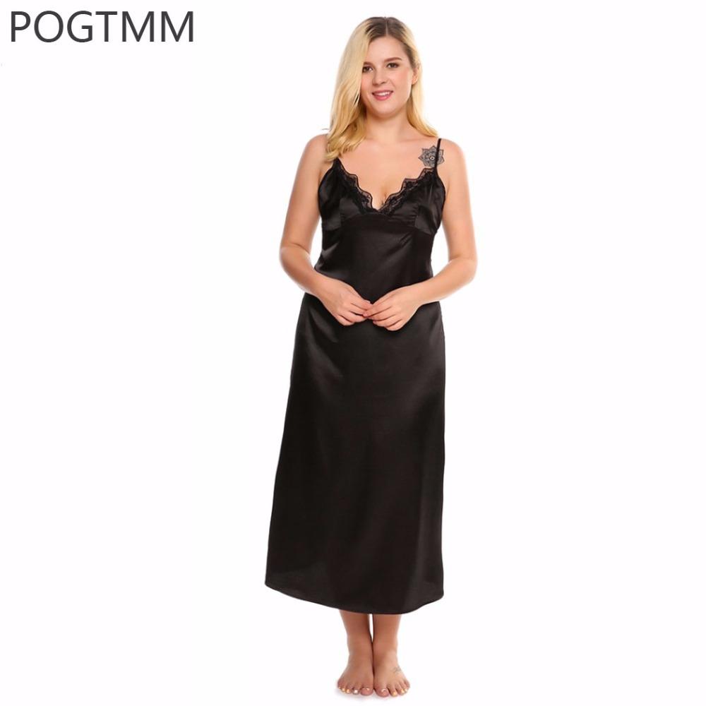 e86a3cb54 Sale! Home   Intimates   Nightwear   Plus Size 4XL Summer Sexy Lace Satin Sleepwear  Dress Women Elegant Long Nightgown Nightwear White ...