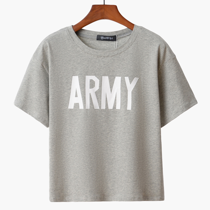 541fd33f14e Sale! Home   Blouse   Tops   Printed tops   Merry Pretty Women Tshirt 2017  Summer Style Army Green T Shirts ...