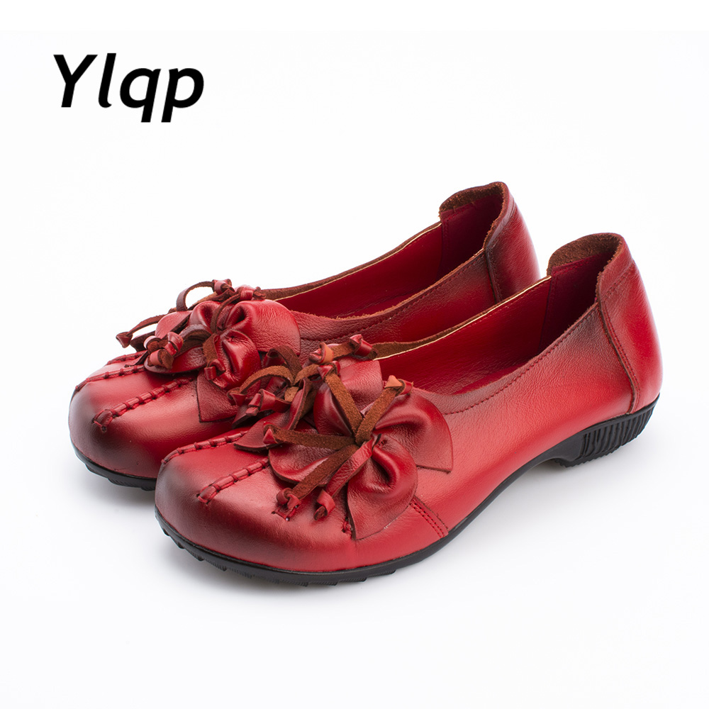 baad79292fc7 Sale! Home   SHOES   Loafers   2017 New Autumn Women Flats Genuine Leather  Shoes Women Casual Loafers Flower Flat Heel ...