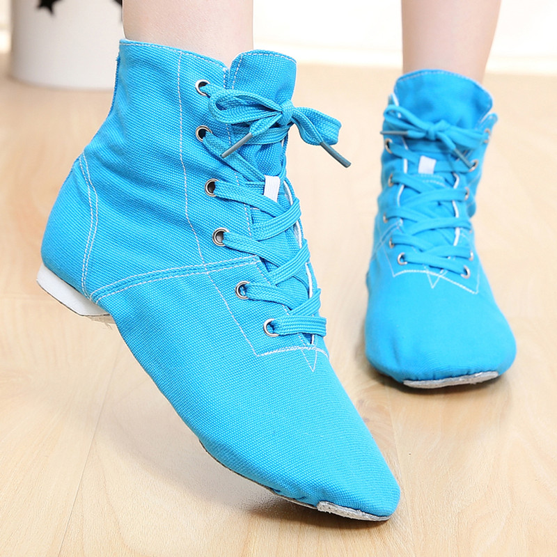Cheap New Men Women Sports Dancing Sneakers Jazz Dance Shoes Lace Up Dancing New