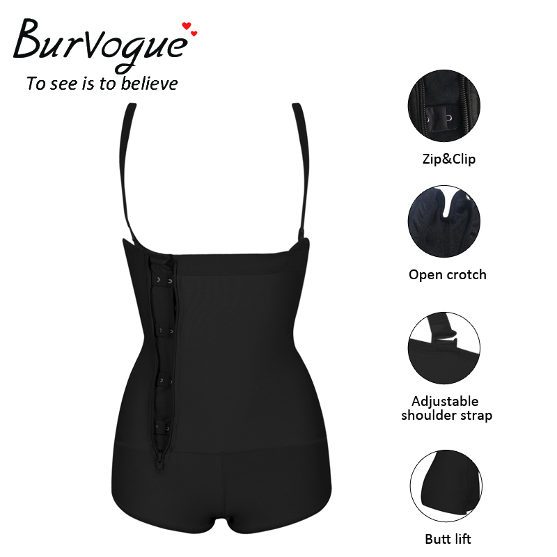 7f214dcb6 Burvogue Clips or Zip Full Body Shaper Women Waist Trainer Slimming ...