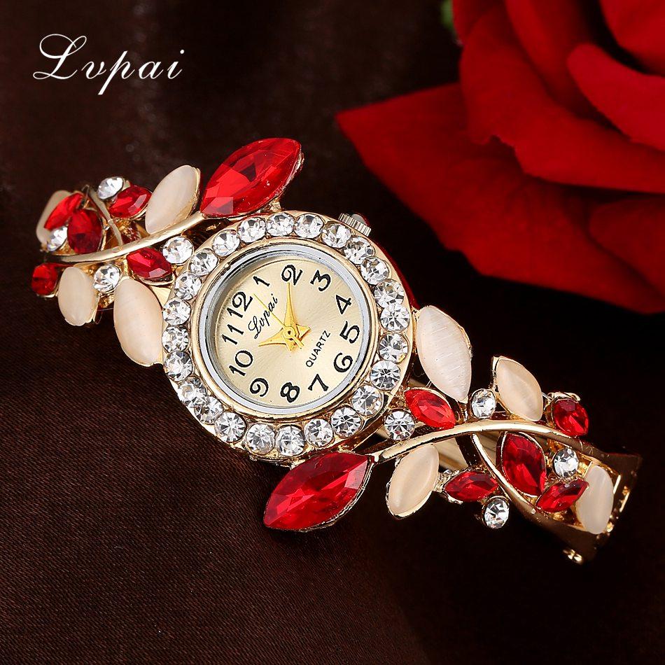 The Cheapest Price Beautiful Fashion Bracelet Watch Womens Clock Round Pendant Rhinestone Gift Quartz Movement Ladies Watch Female Relojes Mujer#w Women's Watches