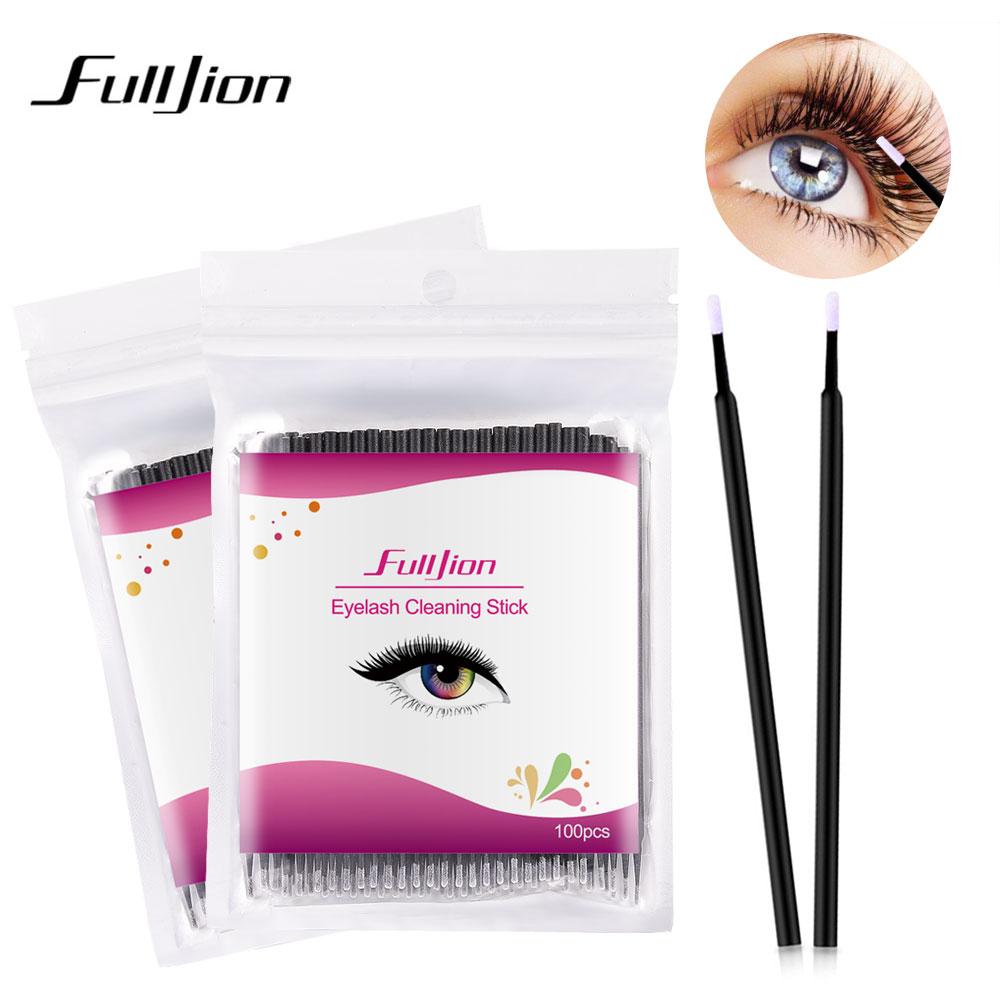 Fulljion 100pcspack Disposable Makeup Brushes Individual Lash