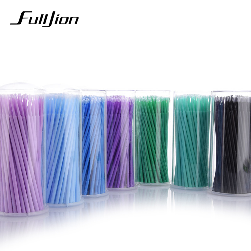 Fulljion 100pcs Pack Disposable Makeup Brushes Individual Lash