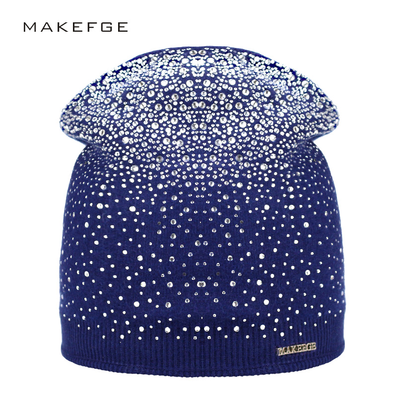 239e555d3b1 Sale! Home   Winter   Caps   Women s Winter Hat Knitted Wool Beanie Female  Fashion Skullies Casual Outdoor Mask Ski Caps Thick Warm Hats ...