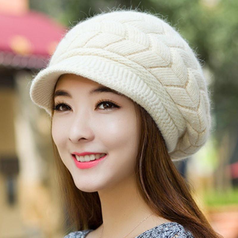 Home   Winter   Caps   New Women Winter Hat Warm Beanies Fleece Inside  Knitted ... 610bf2ea7101