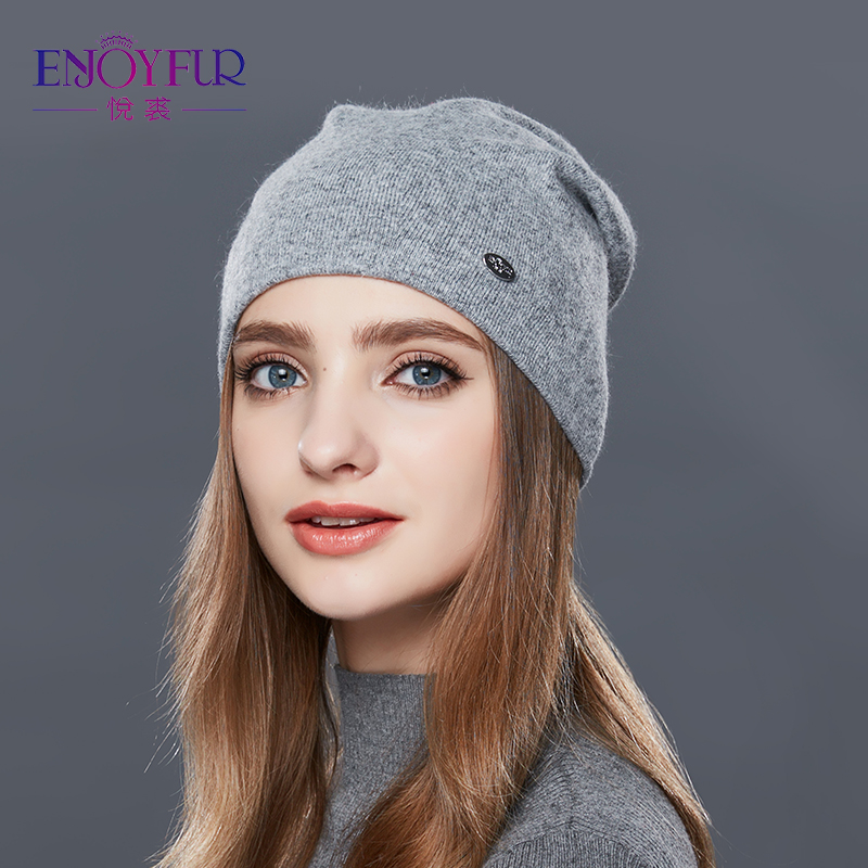 89c2039f9 ENJOYFUR Autumn Winter Thick Warm Wool Hats For Women Good Quality Hat Cap  For Girls Female Winter Caps