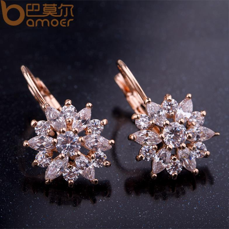 flower stud earrings marquise