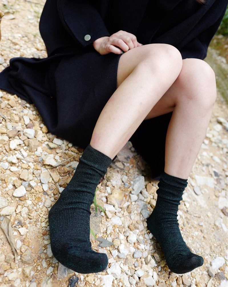 Home   Winter   socks   high quality fashion shining socks lurex autumn  winter thickened knitted thermal women brand long harajuku boot socks  christmas f70dfb44027a