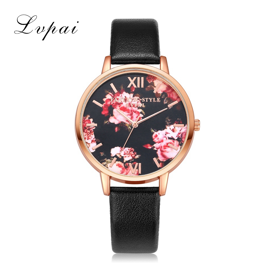 1a2943ea8f83e High Quality Fashion Leather Strap Rose Gold Women Watch Casual Love ...